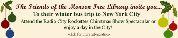 You're invited to the Friends of the MFL winter bus trip to NYC.